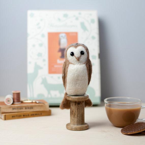 Barn Owl Needle Felting