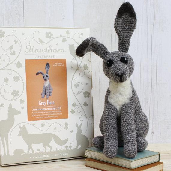 Gray Hare Crochet Kit